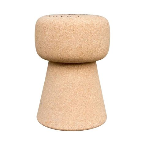 oversized portuguese chagne cork stool side table