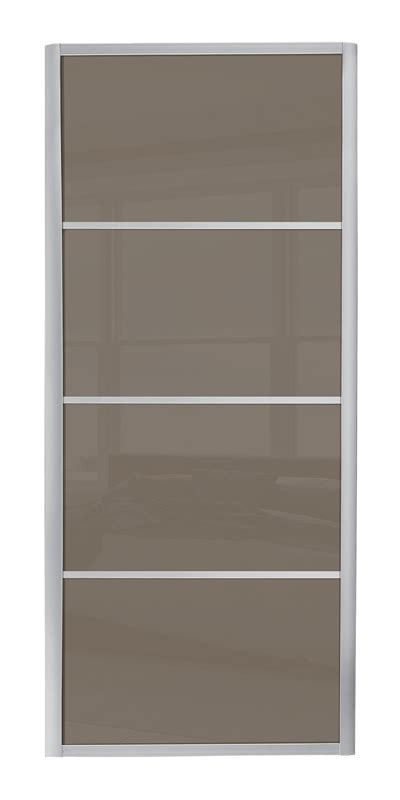 Glass Panel Door Picture Frame Ellipse 4 Panel Door With Silver Frame And Cappuccino