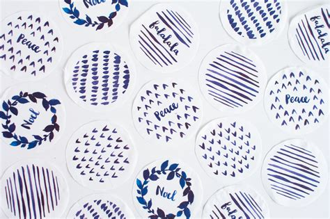 Printed Fabric Decoration diy watercolour printed fabric bauble