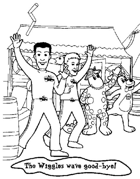 wiggles coloring pages for kids and friends