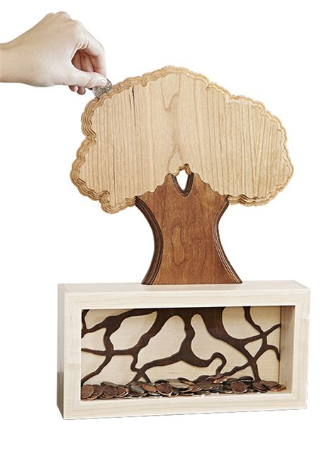 money tree coin bank woodworking plan  wood magazine