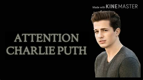 charlie puth attention lyrics attention charlie puth hd lyrics youtube