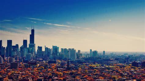 fonds decran etats unis illinois chicago gratte ciel la metropole lautomne ciel