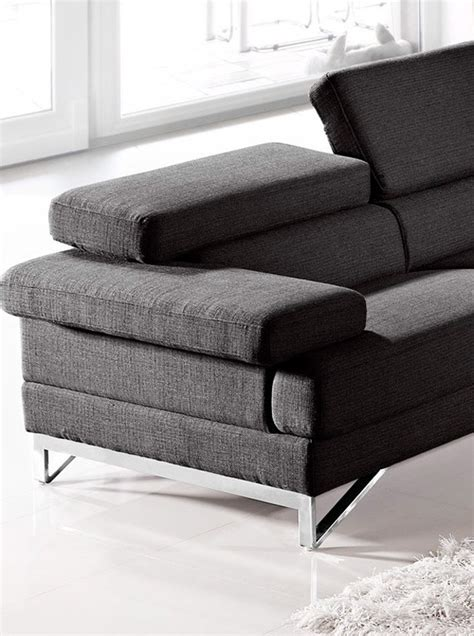 coburn modern grey fabric sectional sofa