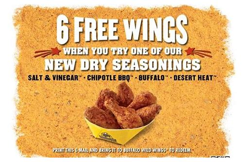 buffalo wild wings restaurant coupons