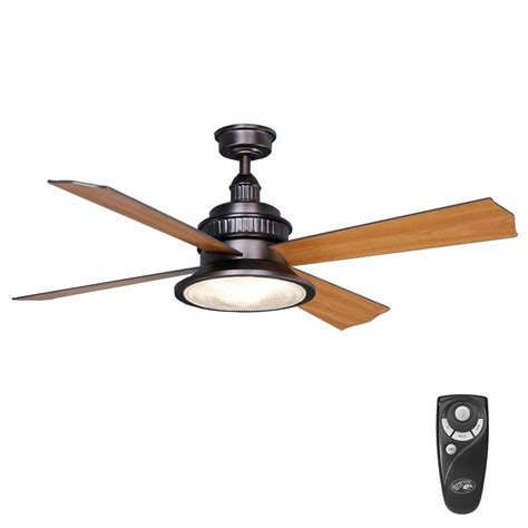 bronze ceiling fan home decorators collection altura 68 in indoor rubbed