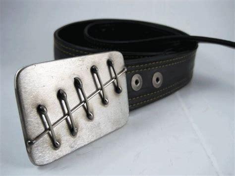 Handmade Stainless Steel Belt Buckles - stitches belt buckle stainless steel handmade by