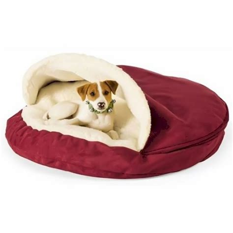 dog cave bed large snoozer luxury cozy cave nesting pet dog bed small ebay