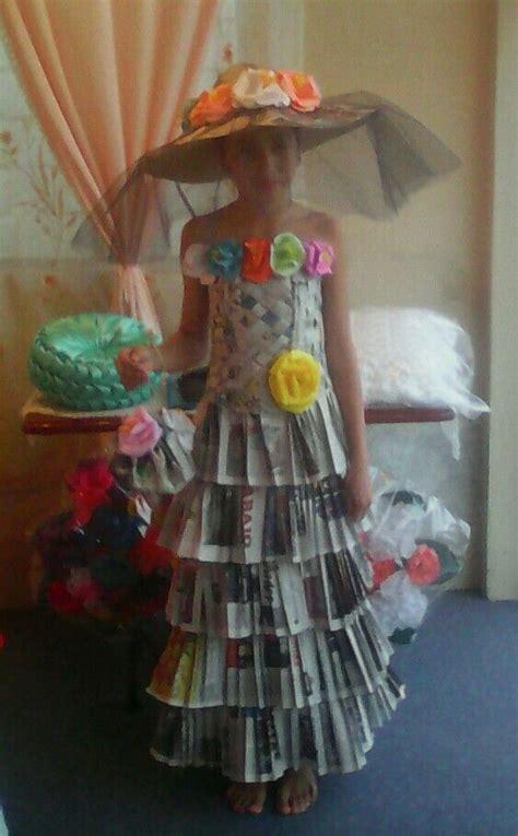 vestido con material reciclado vestido de catrina hecho con papel peri 243 dico sombrero de