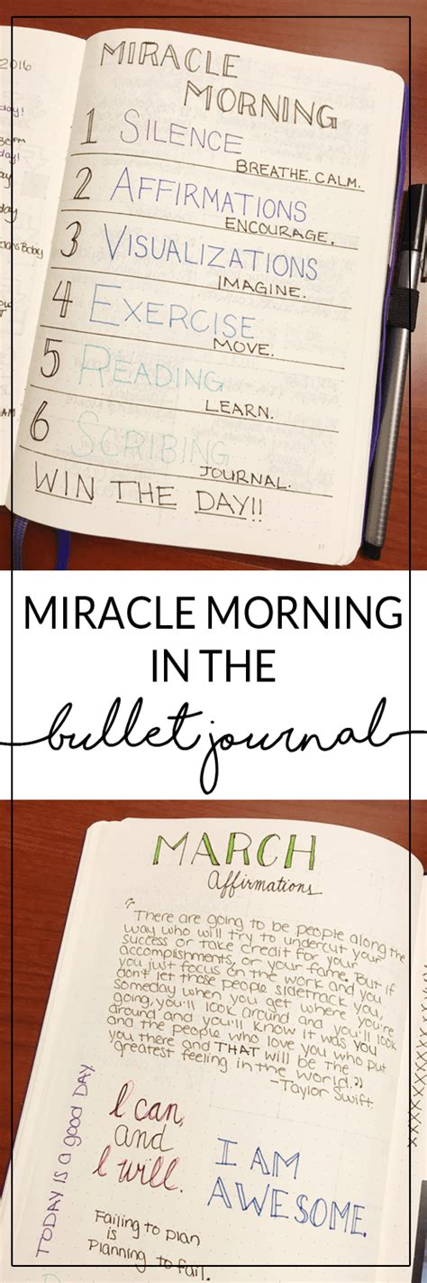 the morning routine journal a 30 day morning routine journal for creating ideal habits better results and transforming your books miracle morning and bullet journal mindful planning