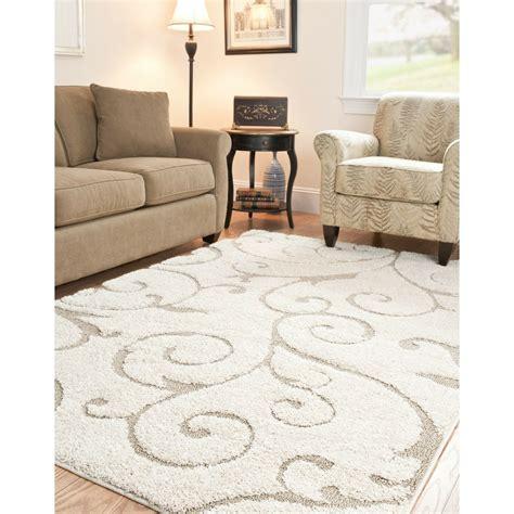 shaggy rugs for room modern area rug shag carpet floor dining living room kitchen 5 3 x 7 6 beige new ebay