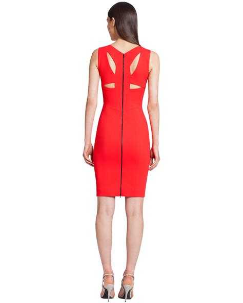 harness dress narciso rodriguez ribbed jersey harness dress in lyst
