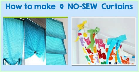 make your own curtains no sew 9 diy tutorials how to make no sew curtains cheer and cherry