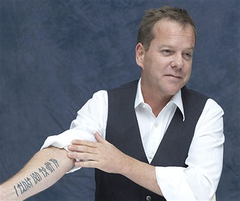 kiefer sutherland tattoos tattoos some of the permanent designs selected