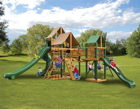 big backyard wooden playsets big backyard big kids playset best backyard blog