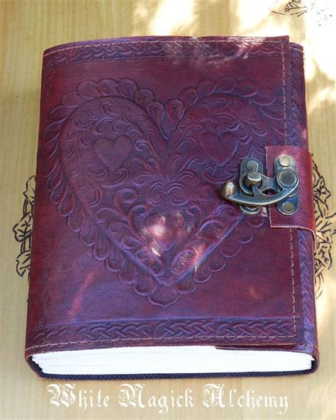 pagna diary with lock white magick alchemy celtic heart leather blank journal with lock 6x8 46 95 http www