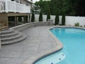 Patio Around Pool Stamped Concrete Patios Around A Pool Pattern Concrete