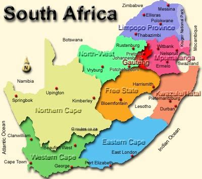 south africa map provinces and capitals south africa home