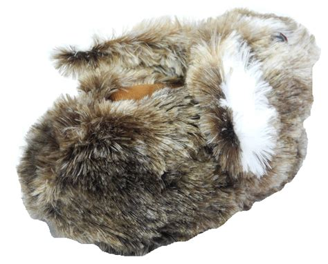 rabbit slippers for adults boys novelty fur bunny lop ear rabbit animal
