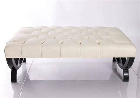 tufted ottomans sale tufted leather baker ottoman for sale at 1stdibs