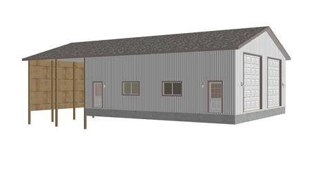 barn shop plans g416 renderings blanford 8002 83 38 x 43 x 14 detached