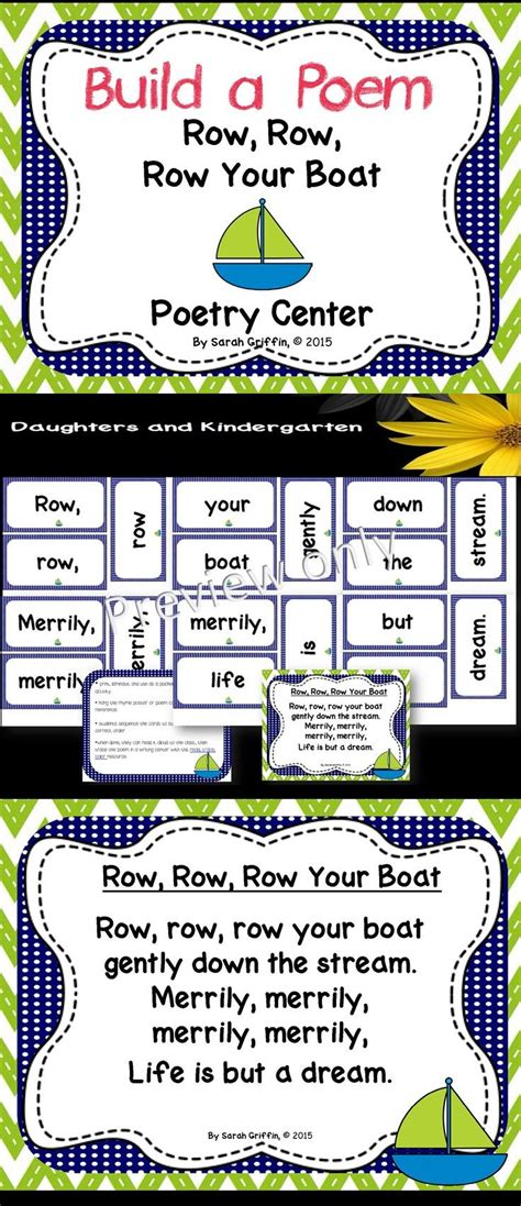row your boat kindergarten 1063 best it s about time for poetry in the classroom