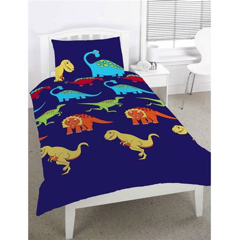 Dinosaur Quilt Cover by Dinosaurs Single Duvet Cover Boys Blue New Free P P Ebay