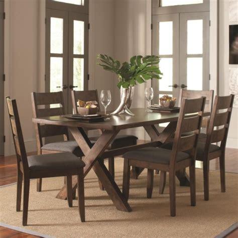 coaster dining room set coaster alston rustic 7 pc table chair set coaster fine furniture