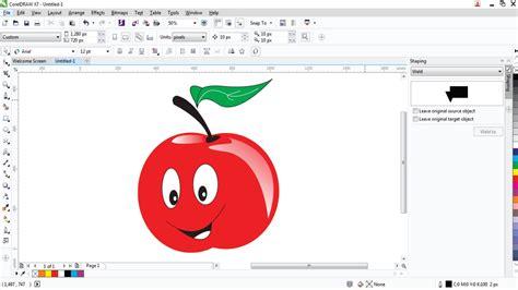 youtube tutorial corel draw x5 bahasa indonesia coreldraw tutorials menggambar buah apel 3d di coreldraw