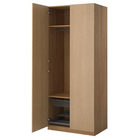 Ten Wardrobe by Pax Wardrobe Oak Effect Nexus Oak Veneer 100x60x236 Cm
