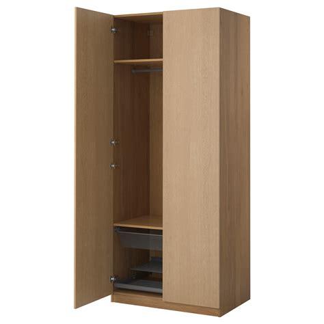 PAX Wardrobe Oak effect/nexus oak veneer 100x60x236 cm   IKEA
