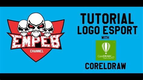 tutorial desain poster coreldraw tutorial desain coreldraw esport logo youtube