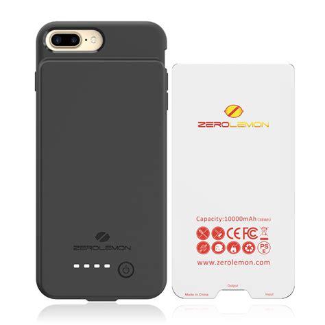 10000mah extended battery for iphone 7 plus zero lemon