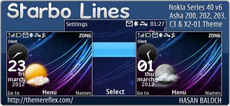hd themes for nokia asha 302 starbo lines theme for nokia c3 x2 01 asha 302 200 201
