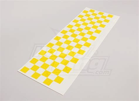 pattern clear yellow decal sheet chequer pattern yellow clear 590mmx180mm