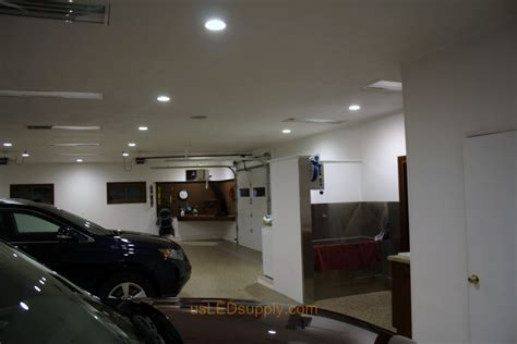 Garage Lighting Garage With White Recessed Led Lighting Led Lights For