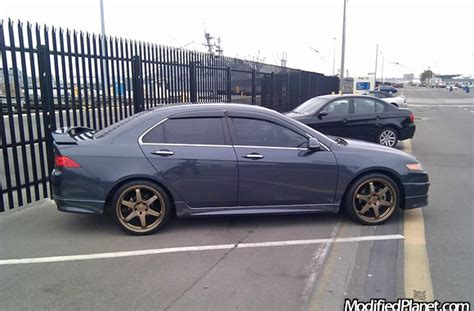 "2004 Acura TSX with Bronze 19"" x 8"" Volk Racing TE37 Wheels"
