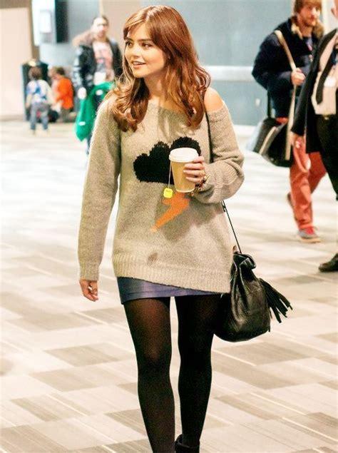 jenna louise coleman rocking  favorite  sweater