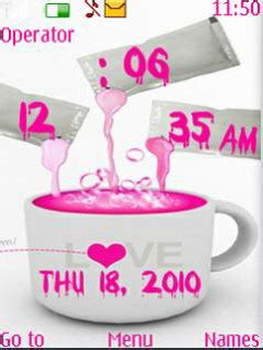 pink theme download for mobile download pink clock nokia theme mobile toones