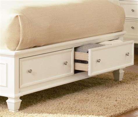 sandy beach bedroom set white sandy beach white wood storage sleigh bed bedroom set free
