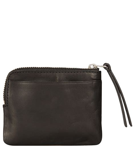 Small Black Leather by Lyst Acne Studios Small Black Leather Zip Coin Pouch In