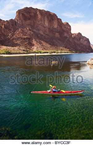 kayaking on the colorado river, lake mead national