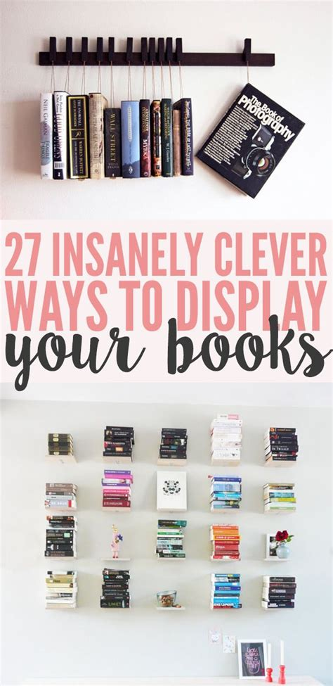 27 insanely clever ways to display your books amazingly diy