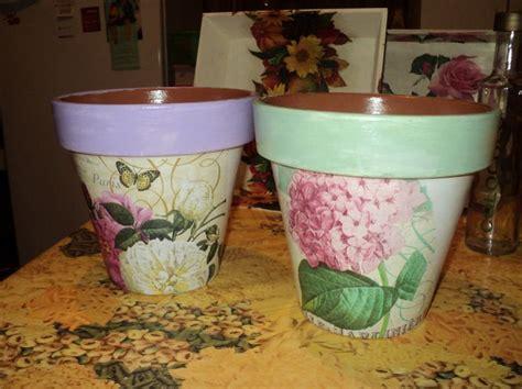 Decoupage Clay Pots Ideas - como hacer una maceta shabby chic buscar con