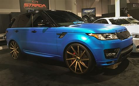 matte blue range rover matte blue range rover sport supercharged on 24 quot strada