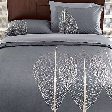 Etched leaf duvet cover shams thisnext