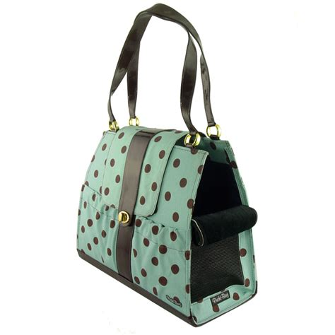 puppy in a purse dots carrier purse designer pet carriers at glamourmutt