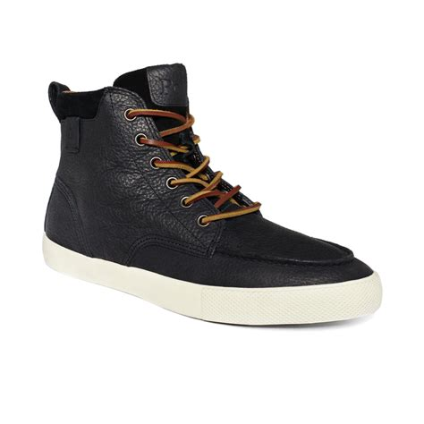 hi top shoes for polo ralph tedd hi top sneakers in black for