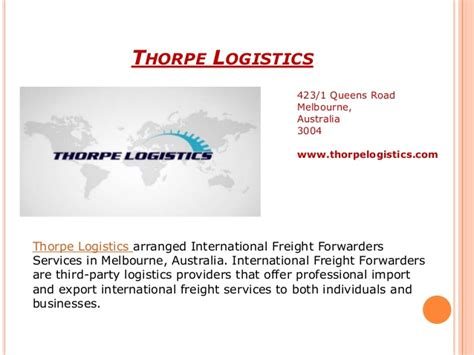 international air sea freight forwarding services in melbourne aus