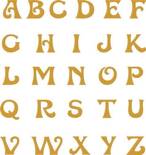 printable gold font free pasdenom machine embroidery font set daily embroidery